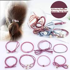 <b>12pcs</b>/<b>lot</b> Fashion Women Rubber Elastic <b>Hair</b> Bands Female <b>Hair</b> ...