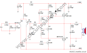 watt power mosfet amplifier circuit diagram   circuits gallerycircuit diagram of mosfet power amp