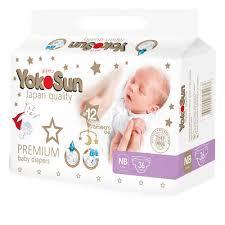 <b>Подгузники YokoSun Premium</b>, размер <b>NB</b> (0-5 кг.), 36 шт ...
