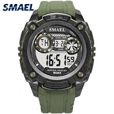 Men Watches 50m Waterproof <b>SMAEL</b> Top Brand <b>LED</b> Sport ...