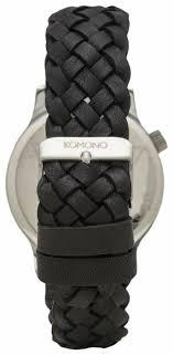 Купить Наручные <b>часы KOMONO Winston</b> Woven Black по низкой ...