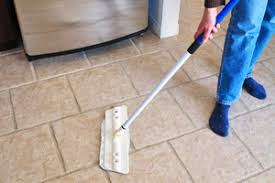 cleaning kitchen tile
