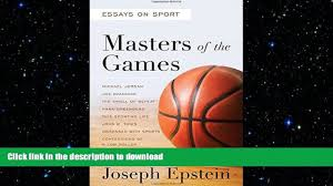 pdf downlaod masters of the games essays and stories on 00 24