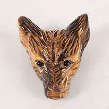 "1.5"" Wolf Head Shaped Pendant <b>Natural Tiger</b> Eye <b>Stone</b>,<b>Wolf</b> Head ..."