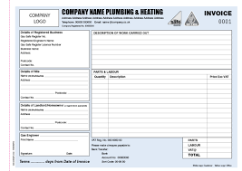 invoice books for plumbers personalised duplicate pads plumbing and heating engineer a4 invoice book