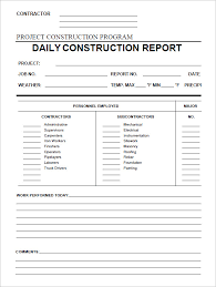 Daily Construction Report Template - 25+ Free Word, PDF Documents ...