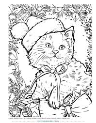 91olajsfxyl Coloringges Worksheets <b>Cute Christmas Cat</b> Free Daily ...