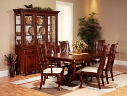 Solid Cherry Dining Room Table Set Of Four American Chippendale Style Mahogany Side Chairs Circa