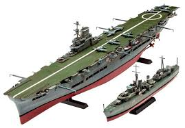 <b>Сборная модель Revell</b> HMS Ark Royal & Tribal Class Destroyer ...
