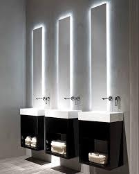 black and white modern minimalist bathroom lavamani rifra bathroom lighting lighting mirrors