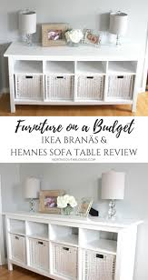 living room ideas for cheap: ikea branas and hemnes sofa table review affordable durable stylish furniture on a budget farmhouse white chic glam rustic home decor amp design