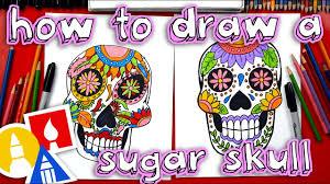 How To Draw A <b>Sugar Skull</b> - YouTube