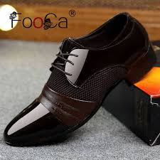 Buy FooCa <b>Men</b> Dress <b>Shoes Men</b> Business <b>Flat Shoes</b> Breathable ...