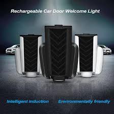 <b>1pcs Universal</b> Rechargeable <b>Car</b> Door Welcome Light Wireless ...