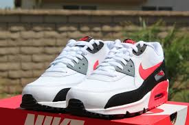 cool black white red nike air max  white and red