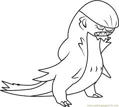 Small Picture Gumshoos Pokemon Sun and Moon Coloring Page Free Pokmon Sun and