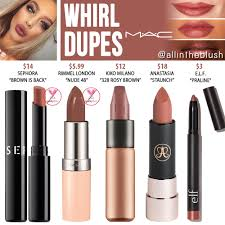 <b>MAC Whirl</b> Lipstick Dupes - All In The Blush
