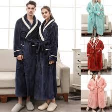 Couple Women Men <b>Breathable</b> Solid Thin Bathrobe <b>Splicing</b> Home ...