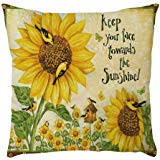 Viahwyt <b>Sunflower Print</b> Cushion Cover 45- Buy Online in Suriname ...