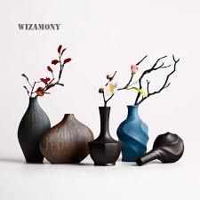 WIZAMONY New Arrival <b>Europe</b> Style <b>Vases</b> Retro brickware terra ...