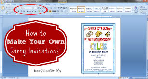 how to make your own party invitations just a girl and her blog how to make your own party invitations