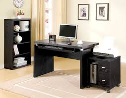 black desks for home office black computer desk for small home office design plus printer and black shag rug home office