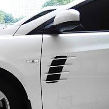 2 Pcs 3D Sticker Universal <b>Car</b> Hood Side Flow Vent Fender Air ...