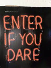 RED <b>LED NEON STYLE</b> ENTER IF YOU DARE FLICKERING ...