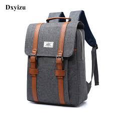 2019 Vintage <b>Men Women</b> Canvas <b>Backpacks</b> School Bags for ...