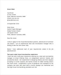sample retail management cover letter     free documents    fashion retail management cover letter