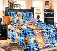 Купить <b>постельное белье</b> «Садев» синий/голуб., терракотовый ...