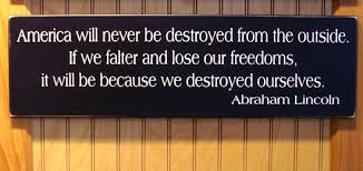 America Will Never Be Destroyed Wood Sign by CountryWorkshop via Relatably.com