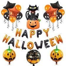 lantusi Cute Spider Letters Pumpkin Skull <b>Balloons</b> Set <b>Halloween</b> ...