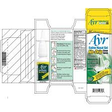 Ayr Saline Nasal Gel No-Drip Sinus Spray, 0.75 FL OZ - Walmart.com