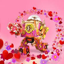 Robotime <b>DIY модель</b> робота стимпанк музыкальная шкатулка ...