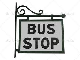 Image result for bus stop signs