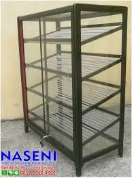 rak sepatu aluminium: Naseni aluminium dan kaca lemari sepatu