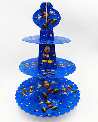 <b>1pc</b>/<b>set Mickey Mouse</b> theme paper cupcake stand happy birthday ...