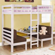 image of white bunk bed twin over full desk childrens bunk bed desk full