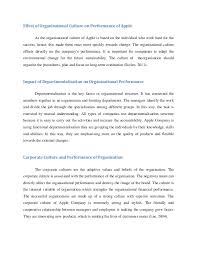 coursework essay  effect of organisational culture
