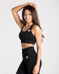 Black <b>Seamless Sports Bra</b> for Women | Women's Best