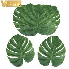 <b>12pcs</b> Artificial Leaf Tropical Palm Leaves Simulation Leaf for ...