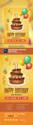 kids birthday invitation party flyer by pro gh graphicriver kids birthday invitation party flyer clubs parties events