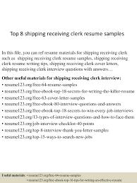 receiving clerk resume  seangarrette coreceiving clerk resume