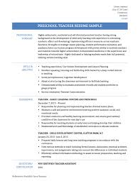 preschool teacher resume samples  templates and tipspreschool teacher resume
