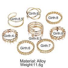 FINETOO <b>8 PCS</b> Simple Knuckle Midi Ring Set Vintage <b>Gold</b> for ...