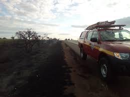 Incêndio florestal de grandes proporções é registrado no entroncamento da BR-365 e BR-153