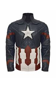 "Age of <b>Ultron</b> Captain America Jacket ""Free T-Shirt"""