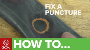 How To Fix A <b>Bike Puncture</b> - <b>Repairing</b> An Inner Tube - YouTube