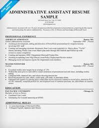 resume examples  administrative assistant resume examples how to    administrative assistant resume sample   professional experience and education